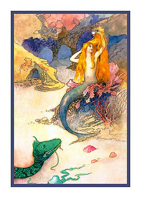 The Elf Queen Illustration by  Warwick Goble Counted Cross Stitch Chart Pattern