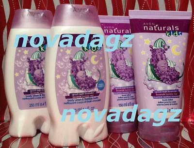 Avon NATURALS KIDS GOOD NIGHT LAVENDER BODY WASH LOTION LOT OF 4 * FULL SIZE OBO
