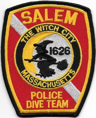 MASSACHUSETTS  Salem  TAUCHER-St. DIVE Team Police Patch Polizei Abzeichen Diver