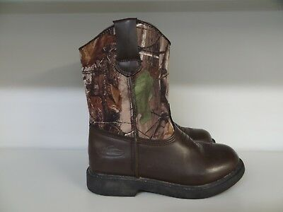 Boys / Kids Size 13 Camouflage Boots By Team Realtree **great Boots**