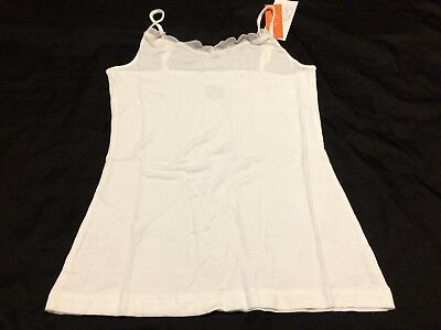 B46 Gillian & O'Malley Women's SLEEP Cami Tank Top WHITE SUPER SOFT SIZE SMALL