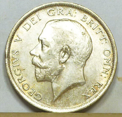 Great Britain Half Crown 1918 Choice Almost Uncirculated NO RESERVE