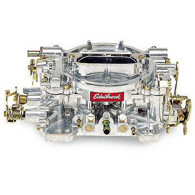 Edelbrock 1407 750 CFM Performer CARBURADOR ESTRANGULADOR manual Acabado En