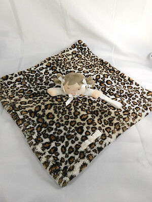 Blankets & Beyond Leopard Cheetah  Print Doll Security Blanket Pacifier Holder