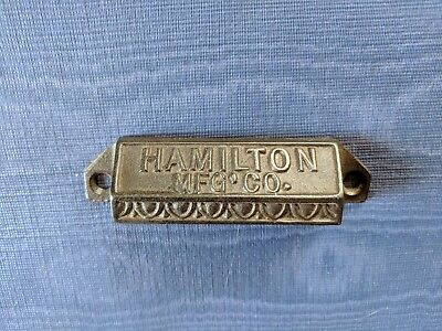 Antique Hamilton Mfg. Co. Ornate Eastlake Cast Iron Printer Drawer Pull