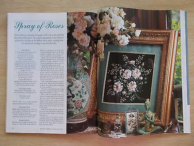 Embroidery & Cross Stitch Vol 2 #2~Roses~Baby Blanket~Bee In A Field~Towels~Bag