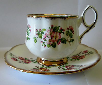 ROSINA CENTENARY DEAR Cup & Saucer QUEENS FINE BONE CHINA Made England 1975