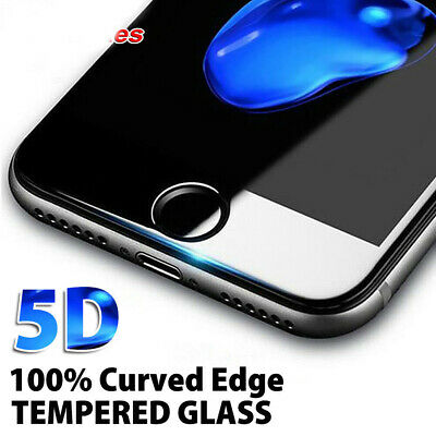 For iPhone 7 Plus 8 Plus - 5D Full Cover Curved Tempered Glass Screen Protector