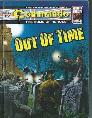 Out Of Time,commando The Home Of Heroes,no.4887,war Comic,2016