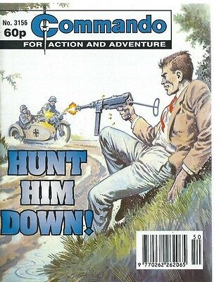 Hunt Him Down !,commando For Action And Adventure,no.3156,war Comic,1998