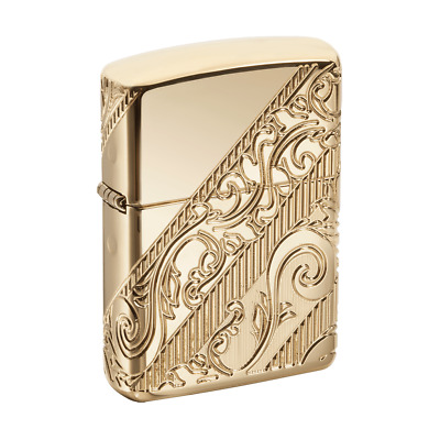 Zippo 29653, 2018 Collectible of Year, Golden Scroll, Gold-Plated Armor Lighter