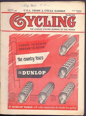 Vintage Cycling U.S.A. from a Cycle Saddle 1st February 1956  (YT1)