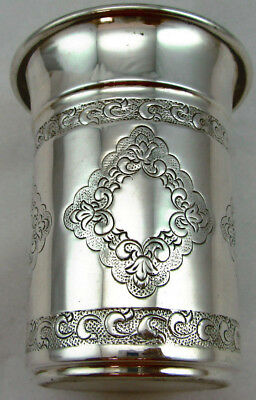 Sterling Silver 925 Kiddish Cup With Modern Artistc Details 68 GRAMS -VIEW