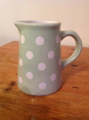 Laura Ashley Small Green Polka Dot Spot Jug - Height 11cm