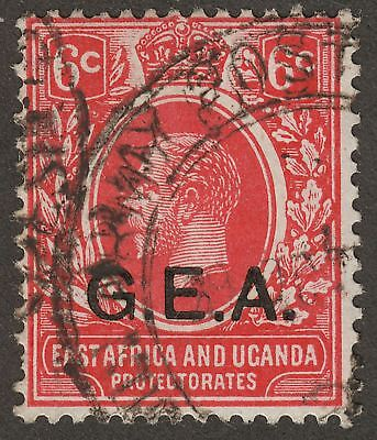 Tanganyika c1920 KGV GEA Opt 6c Used ARMY POST OFFICE Northern Rhodesia Postmark