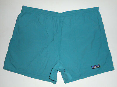 "Vtg PATAGONIA Swim Trunks TEAL BLUE Bathing Suit BAGGIES Shorts 4"" Lined NEW Lg"