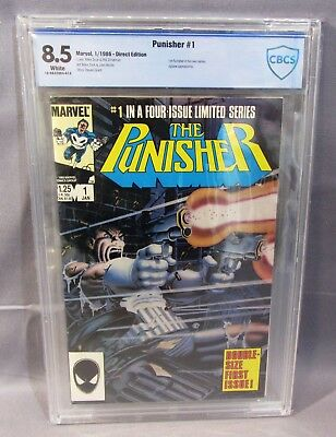THE PUNISHER Limited Mini Series #1 (White Pages) CBCS 8.5 VF+ Marvel 1986 cgc