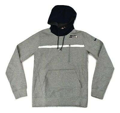 6f9e9e69ef7c NIKE STADIUM DRI Fit Touch Pull Over Hoodie SEATTLE SEAHAWKS Sz M ...