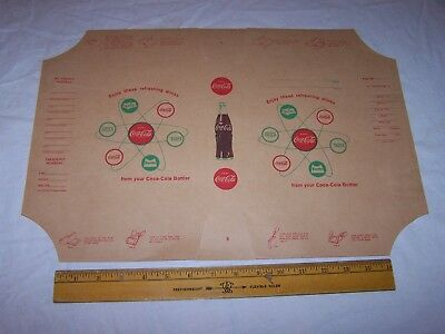 Vintage COCA COLA Paper Book Cover - Dust Jacket