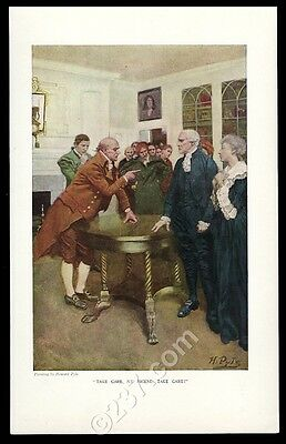 1908 Howard Pyle 'Take Care My Friend Take Care' vintage print