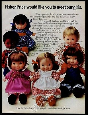 1974 Fisher-Price Jenny Natalie Elizabeth Mary Audrey Baby Ann doll photo ad