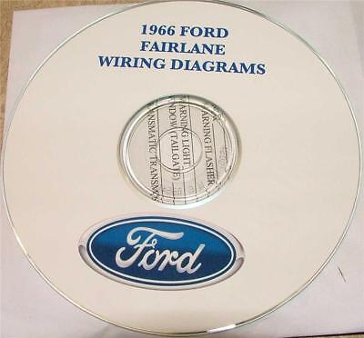 1966 Ford Fairlane Wiring Diagram Manual On Cd