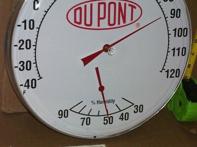 DUPONT --- Paint & Body Shop -- Combination 2 in 1 - HUMIDITY & THERMOMETER SIGN