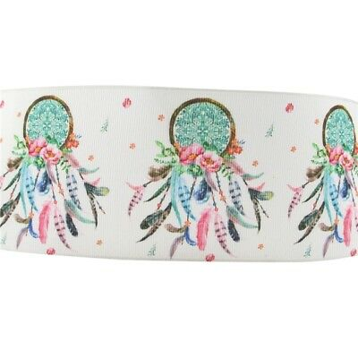 Grosgrain Ribbon - 3 Inch - 75 mm - Print by the Metre - Dream Catcher