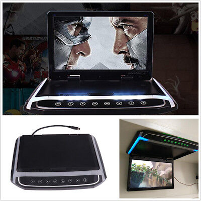 "10.2"" HD 1080P Foldable Car SUV Overhead Roof Mount Monitor Video Player FM HDMI"