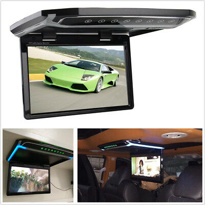 """Foldable 10.2"""" HD 1080P Autos Roof Monitor Overhead Multimedia Video Player HDMI"""