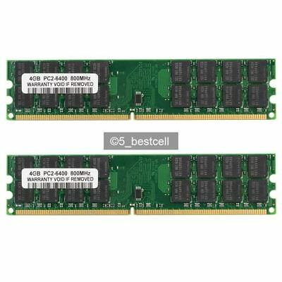 New 8GB 2X4GB DDR2-800MHz PC2-6400 240PIN Only For AMD CPU Desktop Ram Memory