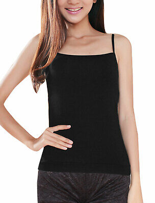 Ladies Soft Square Neckline Spaghetti Straps Cami Top