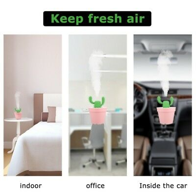 US Ultra Mini USB Air Humidifier Portable Cool Mist Humidifier 200ml Cute Cactus