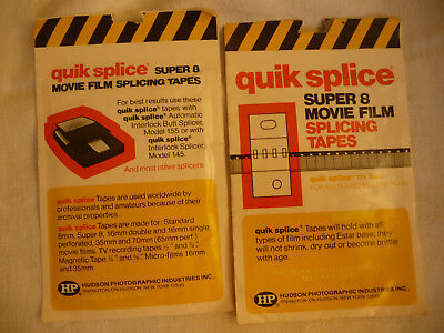 Cine projector SPLICING TAPE FOR super 8 QUICK SPLICE