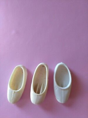 pedigree vintage sindy doll three odd 1970  white ballerina shoes reduced
