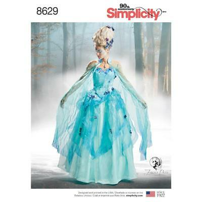 Simplicity Sewing Pattern Misses Firefly Path Costume Corset Cape 6-22 8629 New