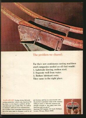 American Oil Company 1966 Problem Shared/Solved Original Print Ad