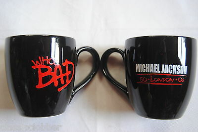Michael Jackson Who's Bad 50 London O2 Mug Cup Tea Coffee New Official Rare