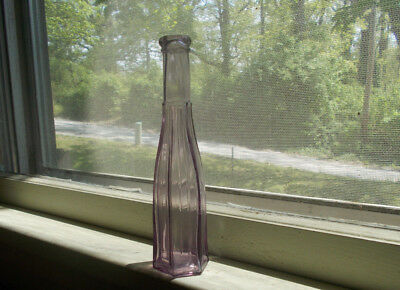 BEAUTIFUL NATURAL AMETHYST 6 SIDED PEPPERSAUCE WITH SUNKEN PILLAR COLUMNS 1880s