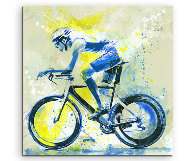 Radsport 60x60cm SPORTBILDER Paul Sinus Art Splash Art Wandbild Aquarell Art