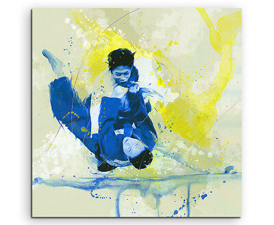 Judo I 60x60cm SPORTBILDER Paul Sinus Art Splash Art Wandbild Aquarell Art
