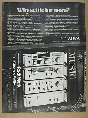 1979 Aiwa Mini Component Stereo System P22 C22 R22 amp tuner vintage print Ad