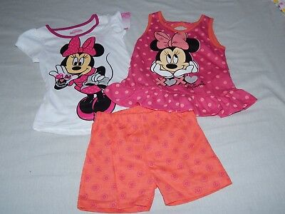NEW Minnie Mouse Disney Junior 3pc Summer Dress Shirt Shorts Outfit Girls 5T