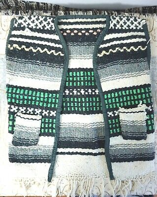 """Vintage Baby Bandito ~ Woven Mexican Vest / Too Cute! Unisex Child ~ 10"""" Wide"""