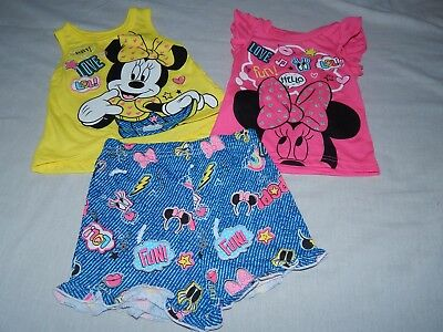 NEW Minnie Mouse Disney Baby 3pc Summer Shirt Short Pants Outfit Girls 12 Months
