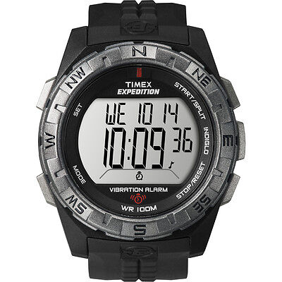"""Timex T49851, Men's """"Expedition Vibrating Alarm"""" Indiglo Watch, Chronograph"""