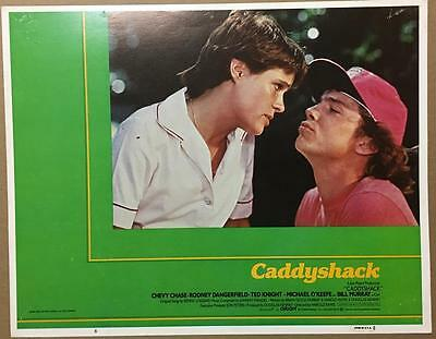 Michael O'Keefe about to kiss ??? Caddyshack 1980 # 6 lobby card 749