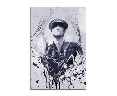 Peaky Blinders Thomas Shelby Art 90x60cm  Aquarell Art Leinwandbild