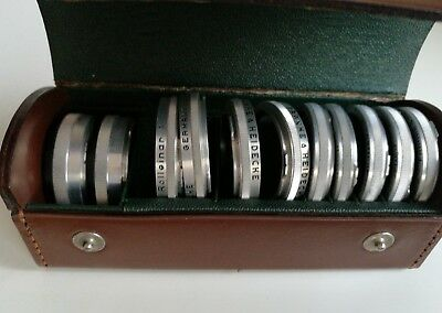 Rollei Franke Heidecke Filter & Lens Set + Leather Case set of 11 Rolleicord