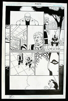 Death of the New Gods #3 p.25 - Mister Miracle - 2008 Signed art by Jim Starlin